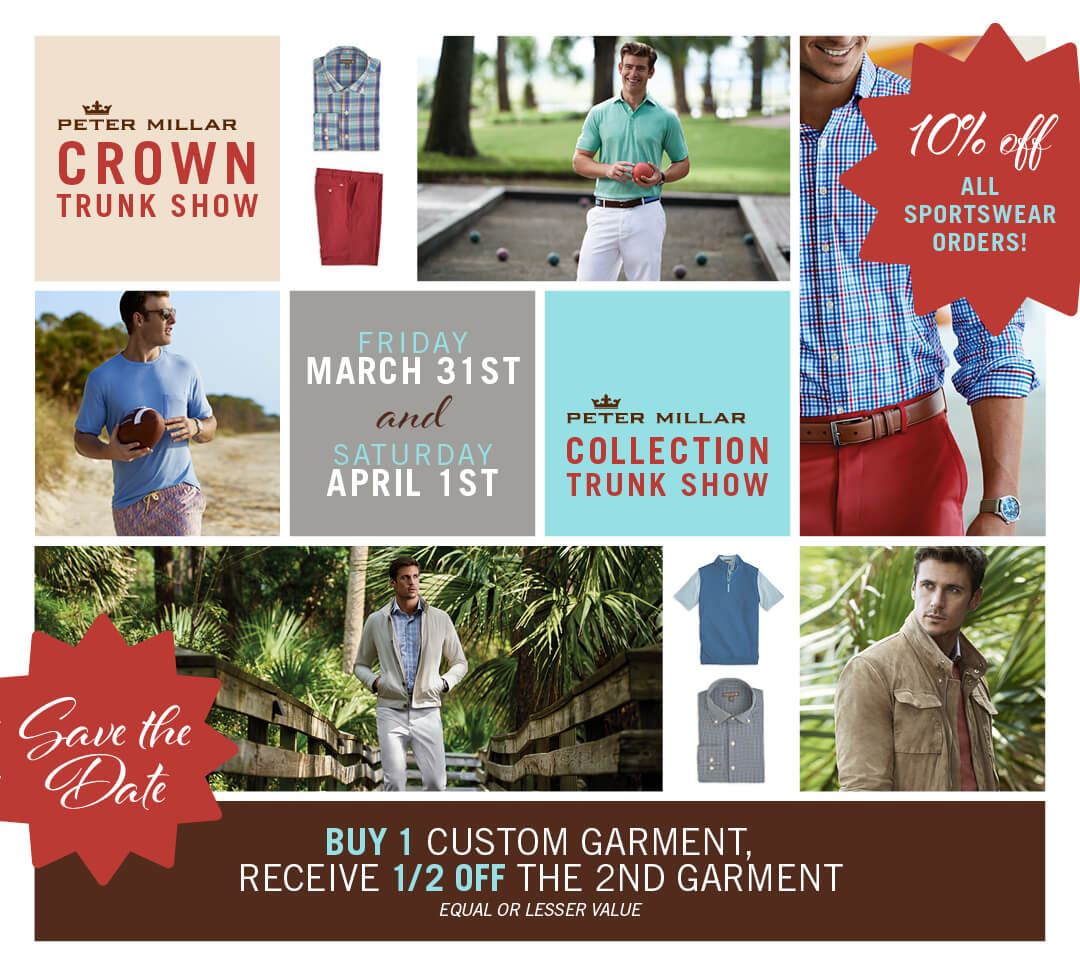 Peter Millar | Crown Trunk Show
