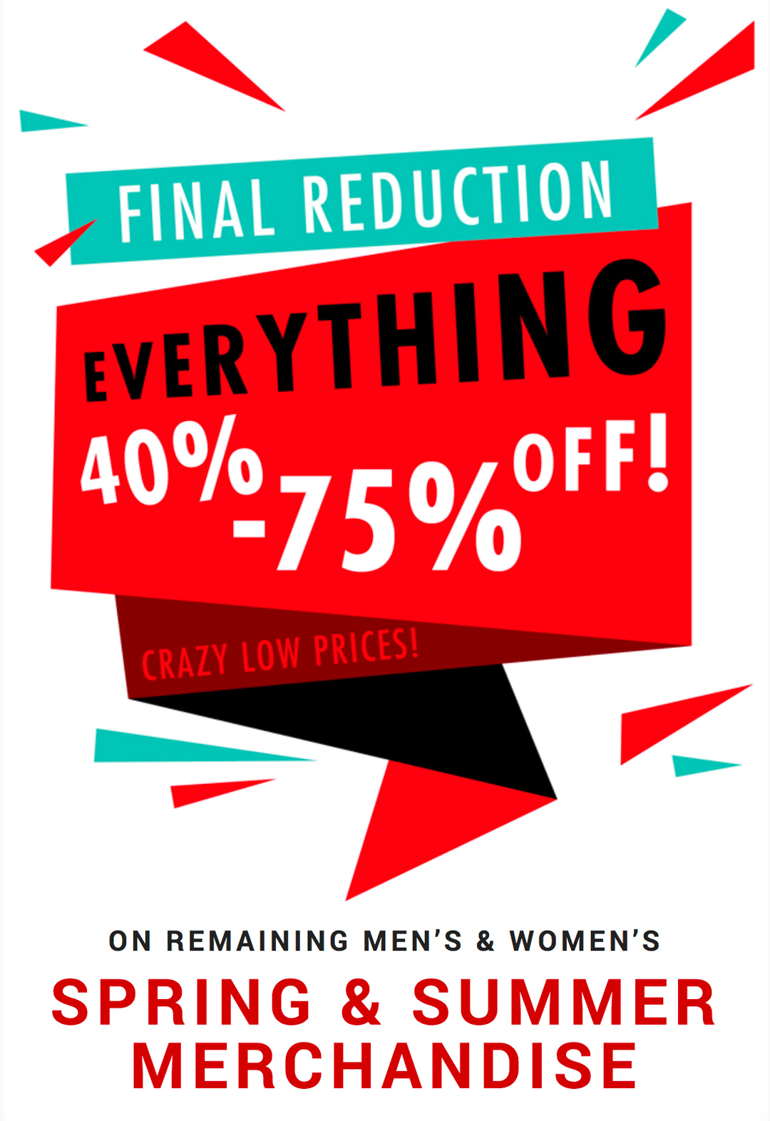 Final Reduction | Everything 40-50% Off