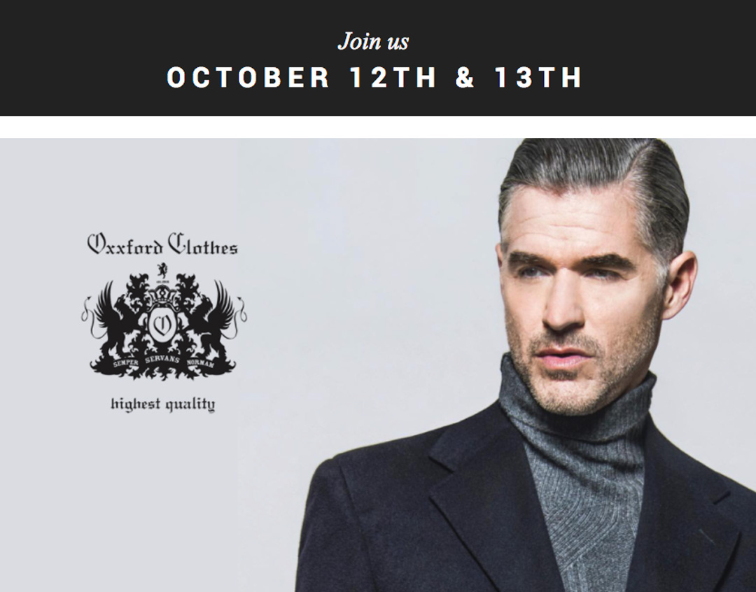 Oxxford Clothiers Trunk Show