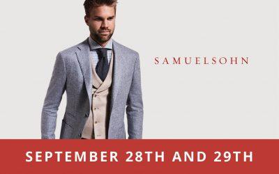 Shop Samuelsohn September 28th and 29th!